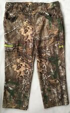 UNDER ARMOUR Mens Hunting Pants 3XL Realtree Fleece Scent Camo 1248011 NEW $90