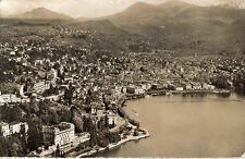 OLD POSTCARD - SWITZERLAND - Lugano - Aerial View - Posted 1955