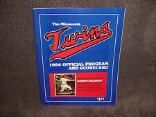 1984 Minnesota Twins Program and Scorecard