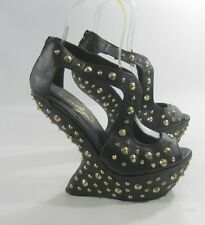 "Priviliged Blacks spike 6.5"" high wedge heel 2""platform shoes.Size..10  P"