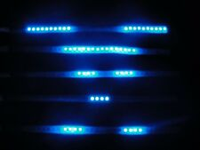 4*Blue 30cm 32LED Flexible Knight Night Rider LED Strip Light Flash Scan Lights