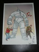 2015 ECCC SHAOLIN COWBOY ART PRINT #3 SIGN BY GEOFF DARROW WITH MINI SKETCH