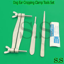 Pinscher Dog Ear Cropping Clamp Guide Tools Kit, Veterinary Instruments