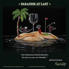WINE ART PRINT Paradise At Last Michael Godard