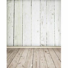 3X5FT White Wood Wall Floor Background Photo Studio Photography Backdrop Props
