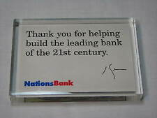 Revolution on Financial Street Nations Bank of America Banking Wall Desk Plaque