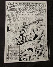 "1965 Journey Into Mystery THOR #115 Production STAT Art 7x9.5"" 5pgs JACK KIRBY"