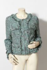 INC INTERNATIONAL CONCEPTS Blue Turquoise Tweed Jacket Coat sz L NWT
