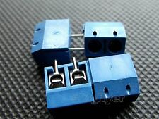 16 pcs 2 pins Plug-in Screw Terminal Block Connector 5.0 mm Pitch