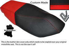 RED AND BLACK CUSTOM FITS KYMCO SUPER 8 50 125 150 07-13 DUAL LEATHER SEAT COVER