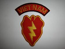 Set Of 2 Vietnam War Patches: VIETNAM Arc + US Army 25th INFANTRY Division