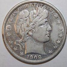 1908-D Barber Silver Half Dollar TDZ