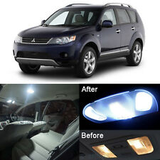 12x White LED Lights Interior Package Kit For Mitsubishi Outlander 2007-2013 #E