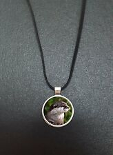 """Otter Pendant On a 18"""" Black Cord Necklace Ideal Birthday Gift N445"""