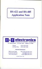 RS-422 & RS-485 Application Note From B&B Electronics - Vintage 1997
