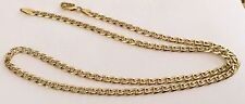 Superb Vintage Solid 18Ct Gold ( 2 Colour Gold ) 18 Inch Necklace Chain