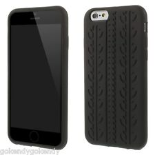 "iPhone 6 iPhone 6S 4.7"" Black Anti-skid Tyre Design Soft Silicone Cover Case"