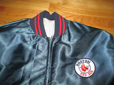 Vintage 70s MLB BOSTON RED SOX Nylon (XL) Jacket with Stitched Patches