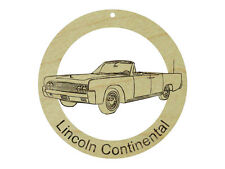 Lincoln Continental Natural Maple Solid Hardwood Ornament Sanded Finish