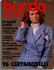 Burda Moden - 1986, January - German Language Fashion, Women's Magazine!