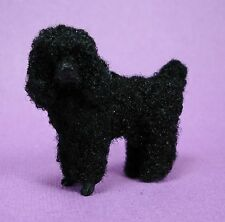 "Dollhouse Miniature ""Bebe"" the Black Poodle Dog/Pet Doll House Furniture"