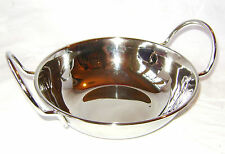 NEW STAINLESS STEEL BALTI DISH BOWL WITH HANDLES INDIAN COOKERY 15 x 5cm APOLLO