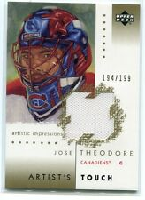 2002-03 UD Artistic Impressions Artist's Touch Gold Jose Theodore Jersey 194/199