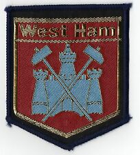 Original Vintage 1970s Football Sew On Patch West Ham United Cloth Badge Unused