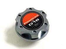 GUNMETAL BILLET CNC RACING ENGINE OIL FILLER CAP HONDA CIVIC CRX DEL SOL D16