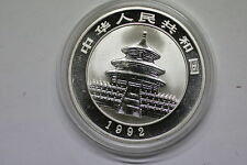 CHINA 10 YUAN SILVER PROOF 1992 PANDA 1 SILVER OZ. A56 CM1 - 6