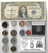 Silver Dollar Barber Mercury Indian Liberty WWII OPA War US Coin Collection Lot