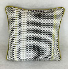 "Harlequin Array 130740 Lime Onyx & Charcoal Cushion Cover 16""x16""  Piped"