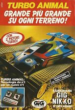 X4229 Turbo Animal con 2 motori turbo - GIG NIKKO - Pubblicità 1991 - Advertis.