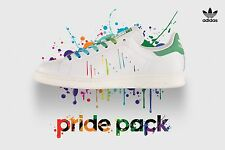 Mens Adidas Stan Smith Rainbow Paint Splatter Pride Pack Shoes 12 White D70352