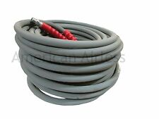 "Pressure Wash Hose Gray Pressure Washer Hose 3/8"" x 100' 6000 PSI 2 Wire Braid"