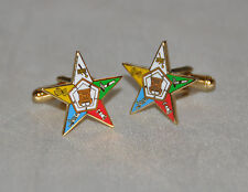 Order of the Eastern Star Gold Plated Cufflinks (CF007)