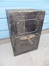 """Vintage Mid 1800""""s Chest Strong Box Safe w/ 2 Drawers, 24 x 16.25 x 13.5"""", H6"""