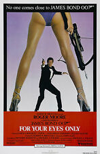 007 SOLO PER I TUOI OCCHI FOR YOUR EYES ONLY MANIFESTO JAMES BOND ROGER MOORE