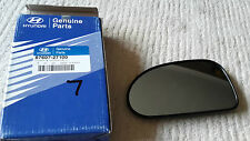 HYUNDAI COUPE WING MIRROR GLASS LEFT PASSENGER 1996-2000 GENUINE 8760727100