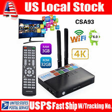 Smart TV Box Media Player Android 6.0 Octa Core BT 4K Wifi RAM3GB ROM32GB HDMI