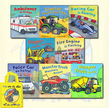 Busy Wheels Collection Peter Bently, Mandy Archer 8 Books Set With Bag NEW PB