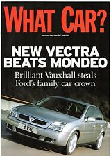 Vauxhall Vectra 1.8 LS 5-dr 2002 UK Market Road Test Brochure What Car?