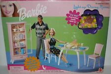 Original Barbie Doll Light Up Dining Room Set, Accessories, NIB