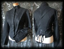 Goth Black Fitted STEAMPUNK SIREN Lace Up Corset Jacket 12 14 Victorian Vintage