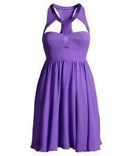 VERSACE Limited Edition H&M 100% Silk PURPLE Cutout DRESS 4 34 SOLD OUT