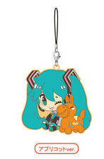 Vocaloid Cute Rody Hatsune Miku Apricot Rubber Phone Strap Anime Manga NEW