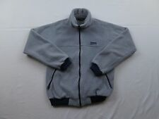 Used Wear Vtg Patagonia Mens Retro Gray Full Zip Warm Fleece Jacket Coat Sz S