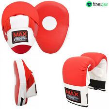 Kick Boxing Focus Pad Set Mesh Curved MMA Martial Arts Punch Bag Mitts Training