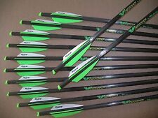 "BARNETT CROSSBOW BOLTS BY VICTORY 1 DOZEN CARBON H/MOON 20"" FREE  POINTS !"