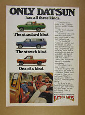 1977 Datsun Lil Hustler Stretch & King Cab Pickup Trucks photo vintage print Ad